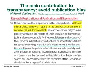 The main contribution to transparency